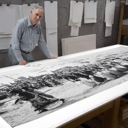1.5x 3.7 metre Stephen Dupont print